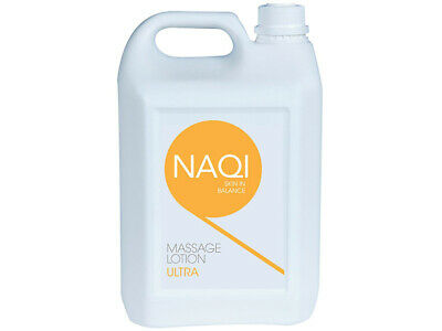5 Litre NAQI Sports Massage Lotion Post Sport Physio Tissue Relax Muscle Therapy