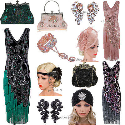Prom Gowns 1920s Flapper Dress Gatsby Theme Costumes Vintage Style Evening Party