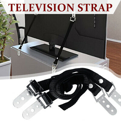 2Pcs TV Safety Strap Anti Tip Furniture Fix Band Belt Kid Proof Protection Set