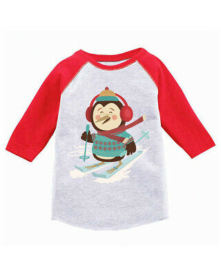 The Mountain 100/% Cotton Kids T-Shirt Tee Chilly Penguin Green XMAS S-M-L-XL NWT