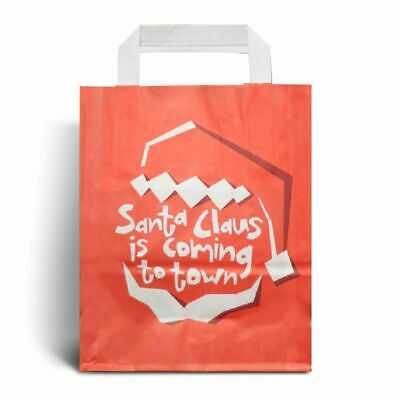 Santa Claus is Coming Christmas  Paper Carrier Bags