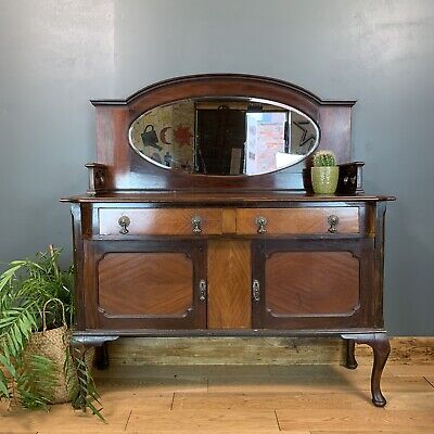 Antique Sideboard Buffet Server Chiffonier Mahogany Mirror Back Cupboard Drawers