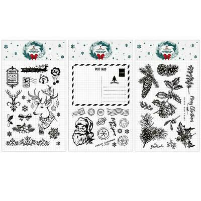 1pc Silicone Merry Christmas Transparent Clear Stamp/Seal Album Scrapbookin F0F0