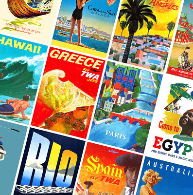 BEST VINTAGE TRAVEL POSTERS - A4 - A3 - A2 - Retro Prints - Home/Wall Art Decor
