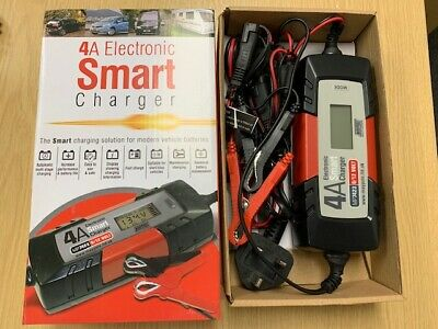 MAYPOLE Electronic Smart Car Battery Charger  4 AMP 6v/12v mp7423