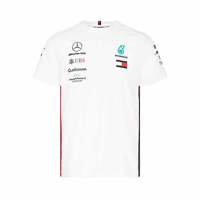 2019 Mercedes AMG Petronas Motorsport Mens Team T-shirt White size S NEW
