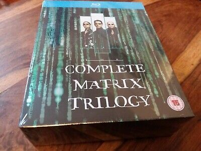 The Complete Matrix Trilogy 1 2 3 Reloaded Revelations UK Blu Ray Boxset New