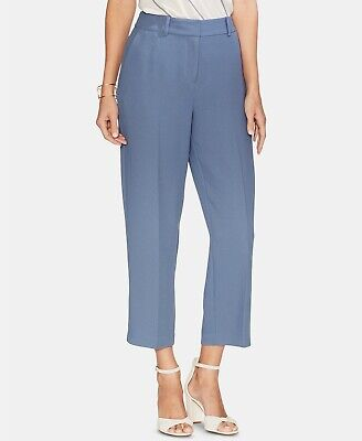 Vince Camuto Women's Parisian Crepe Straight-Leg Pants Dusty Blue Size 6