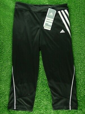 Girls Adidas Climacool Youth Black Capri Pants P42903 - Age 13-14 Years