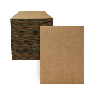 "100 - 8 1/2"" x 11"" Kraft Corrugated Cardboard Pads Inserts Sheet 32 ECT  USA"