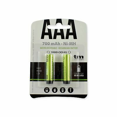 Tm electron tmvh-aaa700h-pack di 2batterie ricaricabili colore verde