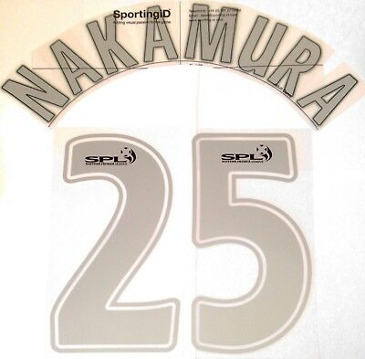2007-08 Celtic ANNIVERSARY EDITION Away Shirt NAKAMURA#25 Official Name Number