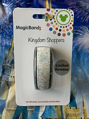 NEW Disney Parks White Parks Icon Castle Epcot Studios Etc MagicBand Link Later