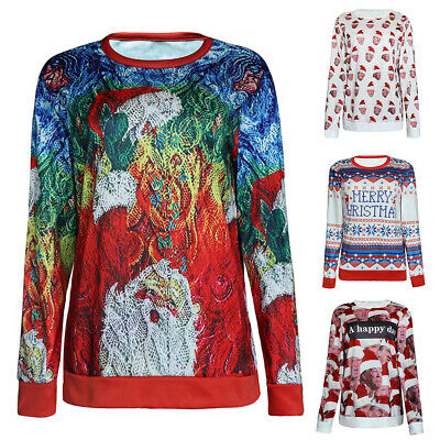 Mens Womens Ladies Adults Novelty Christmas Xmas Jumper Sweater Top Festive Gift