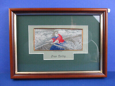 Stevengraph / Grace Darling - Circa 1880 - Beautiful And Unique Framing!
