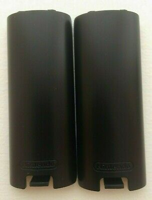 2x Lot New Nintendo Wii Mote Battery Covers Black Wiimote Replacement US Seller