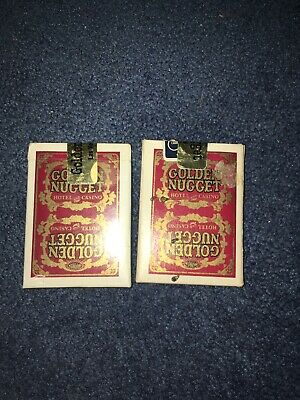 2 decks- GOLDEN NUGGET HOTEL and CASINO — RED DECK VINTAGE USED