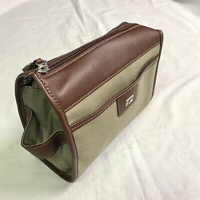 Cutter & Buck Dopp Travel Kit Toiletry Bag Khaki Twill Canvas Nwot