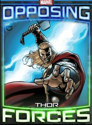 Rare Tilt Opposing Forces Wave 2 Thor vs Hela Topps Marvel Collect