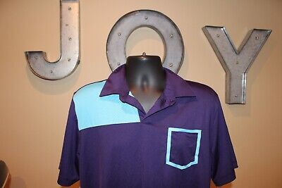 Mens Adidas PureMotion UNIQUE Cool Max Short Sleeve Golf Polo Shirt : Size L