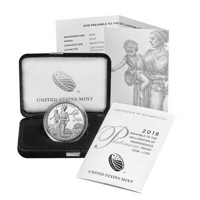 2018-W 1 oz Proof Platinum American Eagle (w/Box & COA)