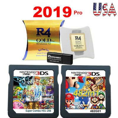 208/482 in 1 R4 Video Games Cartridge Cards Fr Nintendo NDS 2DS 3DS NDSI NDSL US