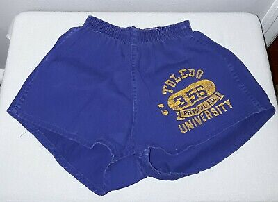 VINTAGE 1950's CHAMPION ATHLETICS UNIVERSITY OF TOLEDO GYM SHORTS SIZE M