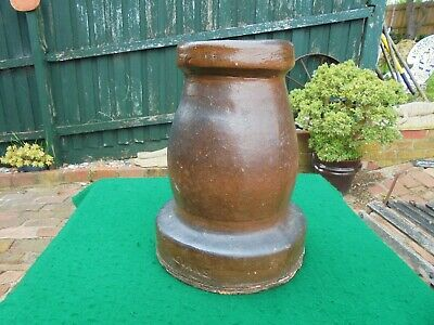 ANTIQUE AUSTRALIAN POTTERY CHIMNEY POT EVANS BRICK WORKS OAKLEIGH c1915