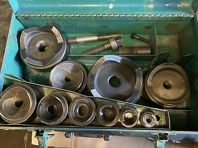 """Greenlee 7304 Knockout Punch Die Set 2-1/2"""" To 4"""" With Extra   1/2""""-2"""""""