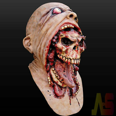 Halloween Latex Bloody Mask Zombie Face Melting Walking Dead Costume Party Prop