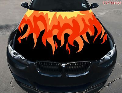 Full Color Graphic Adhesive Vinyl Sticker Fit any Car Hood Abstract Flowers #026