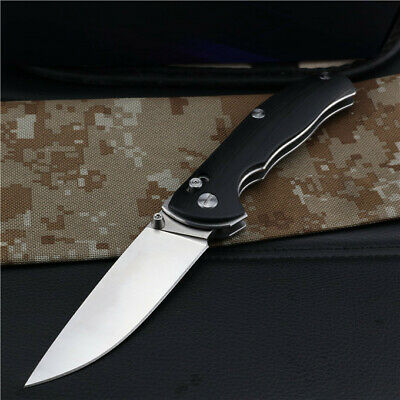 New CNC D2 Steel Blade G10 Handle AXIS Lock Tactics Folding Pocket Knife VTF156