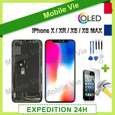 Ecran Oled Lcd Vitre Tactile Sur Chassis Pour Iphone X / Xr / Xs / Xs Max+Outils