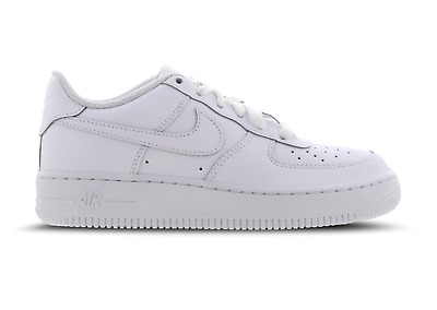 Juniors NIKE AIR FORCE 1 GS White Trainers 314192 117