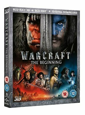Warcraft The Beginning 2D & 3D Blu Ray New & Sealed