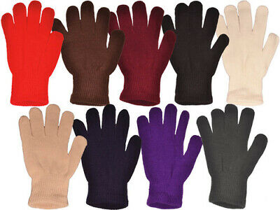 Adults Magic Gloves Stretch Winter Mens Ladies Womens One Size Warm Soft Winter