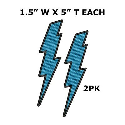 """Yellow Lightning Bolt Applique Patch Iron on Electricity Badge 2.5/"""""""