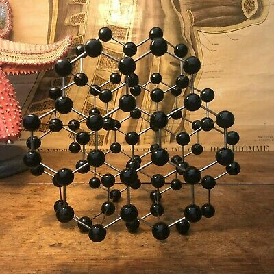 Vintage GRAPHITE educational atomic molecular model chemistry crystal structure