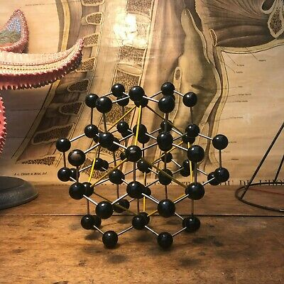 Vintage DIAMOND educational atomic molecular model chemistry crystal structure
