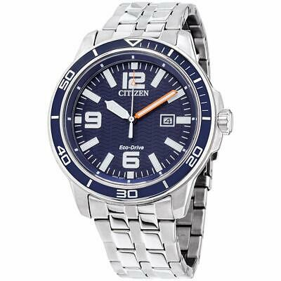 Citizen Eco-Drive Men's Brycen Blue Dial Calendar 44mm Watch AW1520-85L