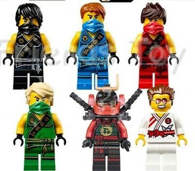 Ninjago Toy Boys Ninja Mini Figures X 6 Kai,Cole,Lloyd,Nya,Jay Griffin fit lego