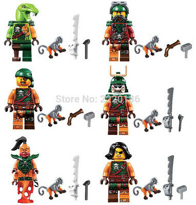 Ninjago Toy Ninja Mini Figures X 6 Nadakhan, Clancy & 4 Sky Pirates fit lego