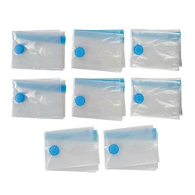 Pack of 8 Medium Travel Vacuum Storage Bags for Clothes - 1000 x 800mm