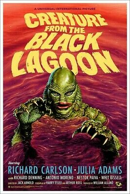 CLASSIC MOVIE POSTER 24x36-52827 CREATURE FROM THE BLACK LAGOON