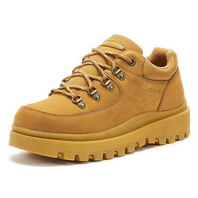 SKECHERS SHINDIGS COOL Out Womens Wheat Yellow Trainers