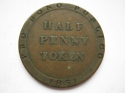 Isle of Man 1831 copper Halfpenny token GF
