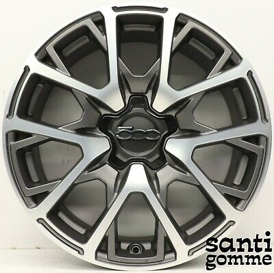 "4 Jantes en Alliage Fiat 500X Anthracite Diamant Original 7 X 18 "" 735641174"