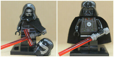 Star Wars Film Toys Darth Vader & Kylo Ren Jedi Mini Figures Use With lego sets