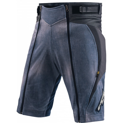 Shorts Racing Junior Energiapura with Protectors Jeans Stonewashed