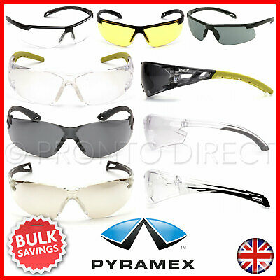Safety Glasses Specs Spectacles Work Clear Smoke Yellow EN166 Anti-Scratch Lens